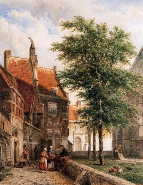 Работы художника Корнелис Спрингер (Cornelis Springer). Часть 1. (30 фото)