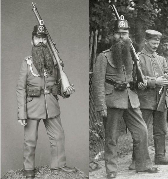 """Работа Константина Капитонова. Работа """"Ландштурмист, 1914 г."""". (8 фото)"""