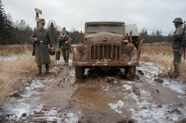 """Работа Бориса Караева. """"Где штаб твоей дивизии? Ардены 1944 г."""" (10 фото)"""
