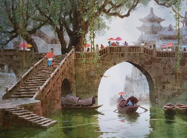 Работы художника Сян Минь Цзэн (Xiang Ming Zeng). 18 фото.