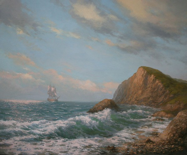 Работы художника Михаила Иваненко. Часть 2. Морской пейзаж. (30 фото)