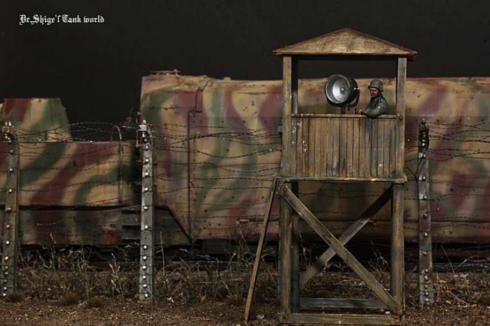 """Работа Shigeyuki Mizuno. """"Сторожевая вышка (Nr.16 Немецкий бронированный поезд)"""". (6 фото)"""