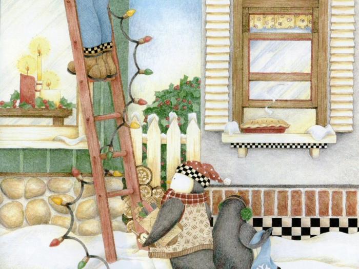 Работы художника - иллюстратора Debbie Mumm (Дебби Мамм). 49 фото.