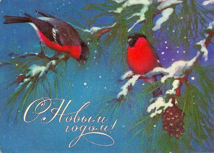 Советские новогодние открытки. Часть 4. (50 фото)