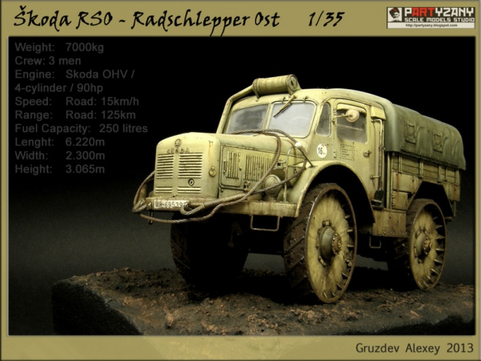 "Работа Алексея Груздева. ""Škoda RSO - Radschlepper Ost."". (7 фото)"