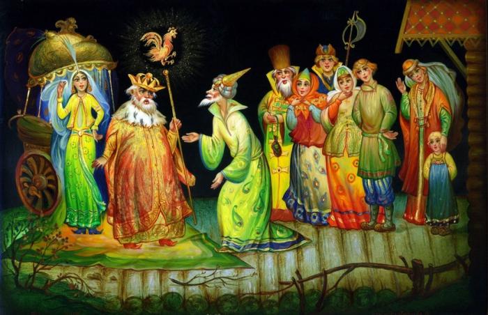 Федоскинская миниатюра. Часть 2. Сказки в Федоскинских миниатюрах. (49 фото)