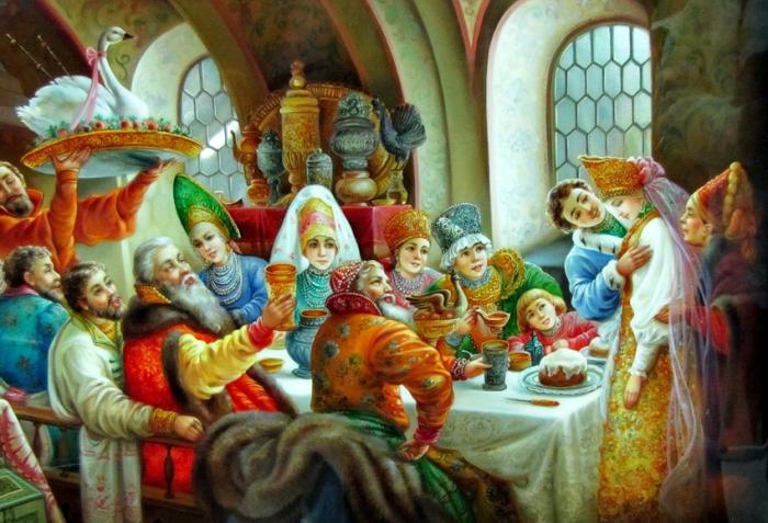 Федоскинская миниатюра. Часть 3. Старая Русь в Федоскинских миниатюрах. (59 фото)