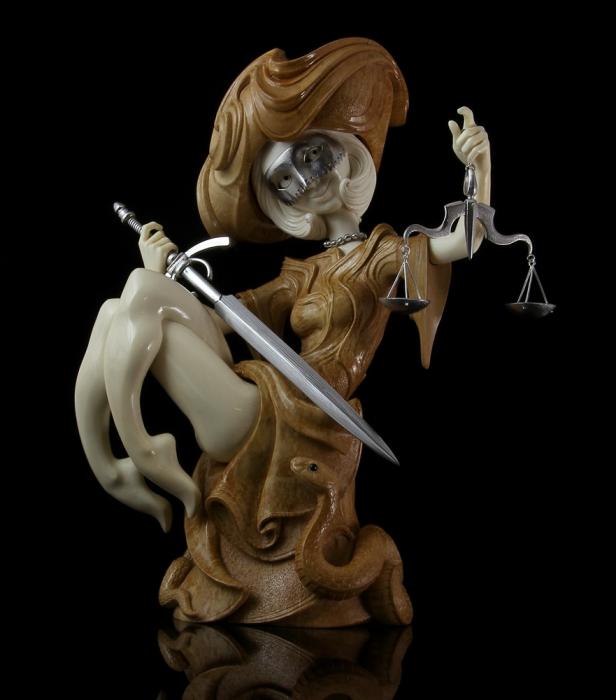 Александр и Елена Коптеловы. Резьба по кости мамонта. Часть 8. Фэнтези. (21 фото)