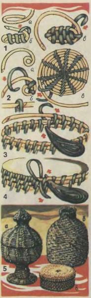 Спиральное плетение.