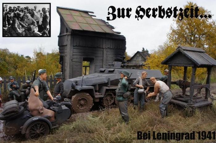 """Работа Бориса Караева. """"Под Ленинградом 1941 г."""" (10 фото)"""