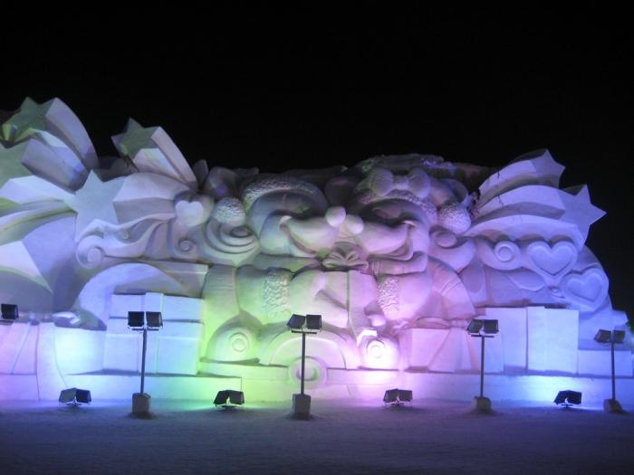 Международный фестиваль льда и снега в Харбине 2014 г. Часть 1. (72 фото)