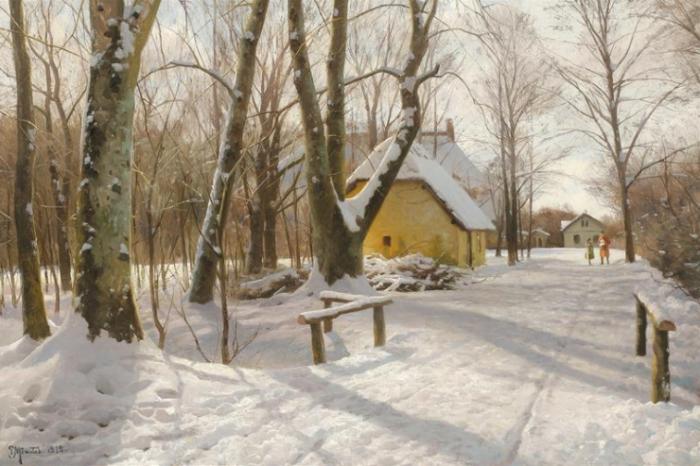 Работы художника Peder Mørk Mønsted (Петер Мёрк Мёнстед 1859 г. - 1941 г.). Часть 1. (46 фото)