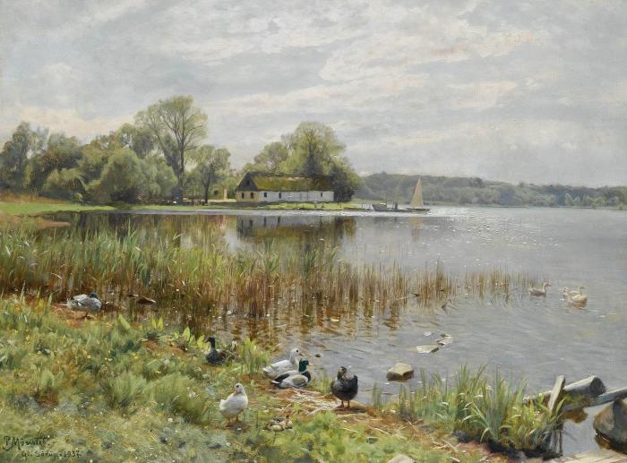 Работы художника Peder Mørk Mønsted (Петер Мёрк Мёнстед 1859 г. - 1941 г.). Часть 2. (45 фото)