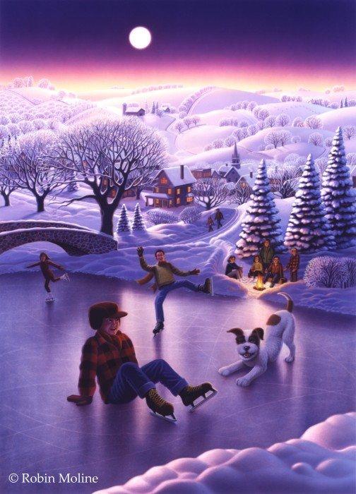 Зимнее настроение от  художника - иллюстратора Robin Moline. (20 фото)