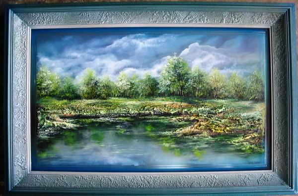 Картины на зеркалах Сергея Донцова. Часть 1. (49 фото)