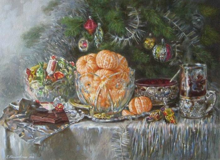 Работы художника Калиновской Екатерины Михайловны. Часть 1. Натюрморты. (55 фото)