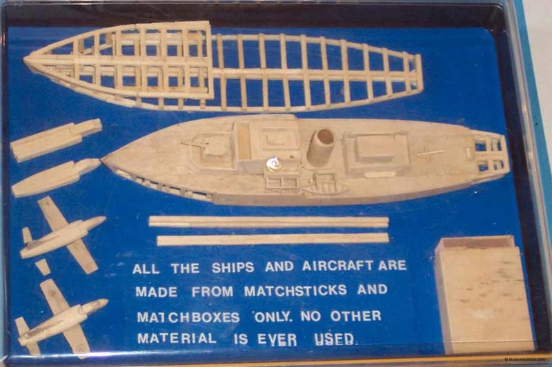 Как сделать корабль из спичек схема