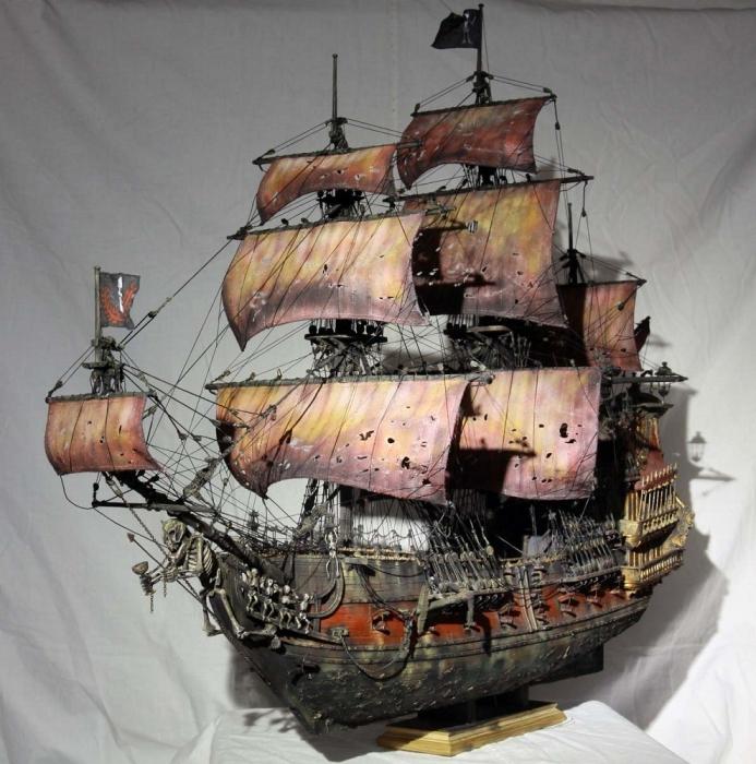 Как сделать корабль из бумаги месть королевы анны
